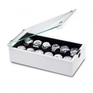Ferocase Galaxy White Horlogekist voor 12 Horloges