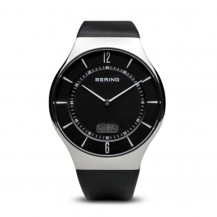 Bering 51640-402 Radio Controlled Polished Silver Leather