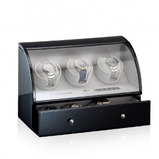 Designhuette Watchwinder Basel 3BK LCD