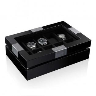 Heisse und Sohne Executive 10 Black Black Horlogekist