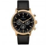 Renard Grande Chrono Black Gold Veau Black