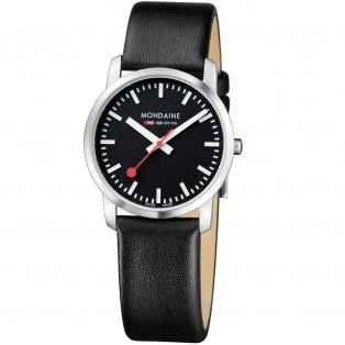Mondaine Simply Elegant 36mm Zwart