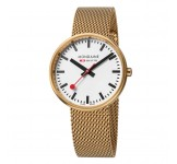 Mondaine Mini Giant 35mm Gold Mesh
