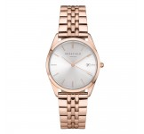 Rosefield The Ace Silver Sunray Rosegold Horloge