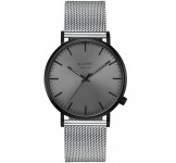 Kane Black Out Silver Mesh Horloge