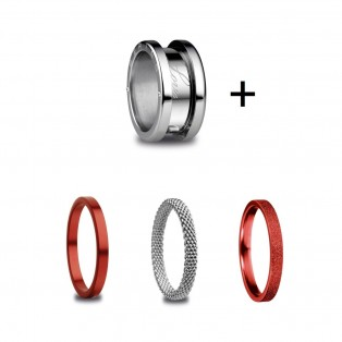 Bering RING Symphony Set Red Silver 11
