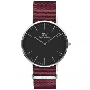 Daniel Wellington Classic Black 40mm Roselyn Silver