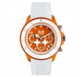 Ice-Dune Chrono Large White Orange Horloge