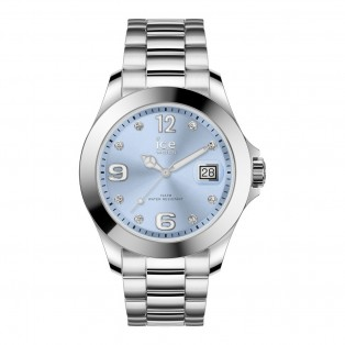 Ice-Watch Ice Steel Medium Classic Light Blue Stones