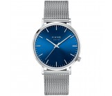 Kane Blue Arctic Silver Mesh Horloge