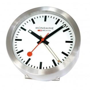 Mondaine Wand- of Staande Klok met Alarm 125mm