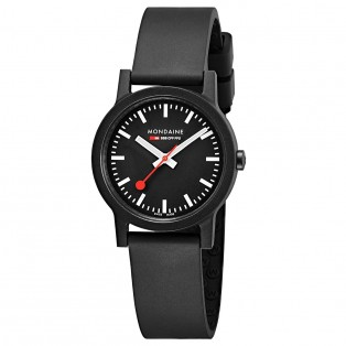 Mondaine Essence 32mm Black Eco-Friendly
