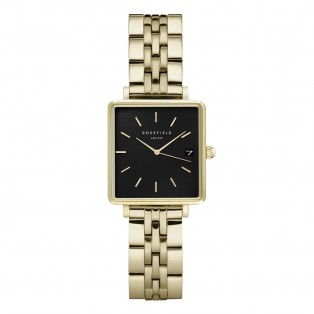 Rosefield The Boxy XS Black Steel Gold