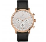 Renard Grande Chrono Silver Rose Gold Veau Black