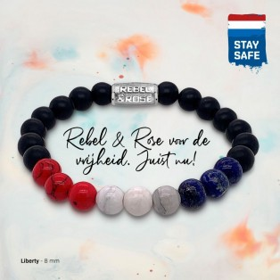 Rebel & Rose Armband 8mm Liberty S