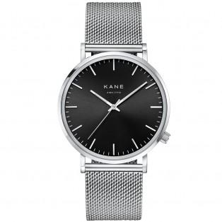 Kane Black Code Silver Mesh Horloge