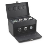 Scatola Del Tempo 7-RT Black 3 Watchwinder plus 4