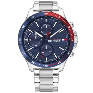 Tommy Hilfiger Bank Horloge TH1791718 Silver