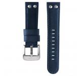 TW Steel 22mm Horlogeband Blauw Leder