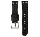 TW Steel 22mm Horlogeband Zwart Geel