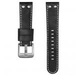 TW Steel 22mm Horlogeband Zwart Leder