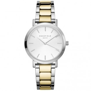 Rosefield The Tribeca White Sunray Steel Silver Gold TWSSG-T63
