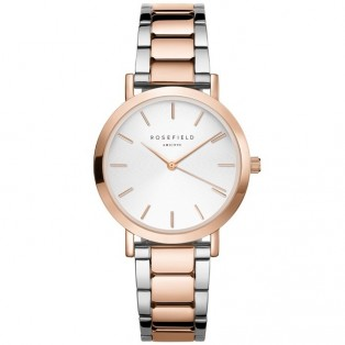 Rosefield The Tribeca White Sunray Steel Silver Rosegold TWSSRG-T64
