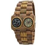GreenTime ZW072A Kompas Houten Horloge