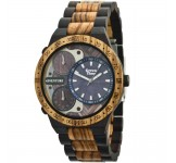 GreenTime ZW078B Adventure Houten Horloge