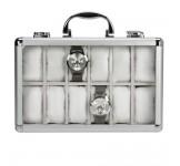 Aluminium Horlogekoffer 12 Wit