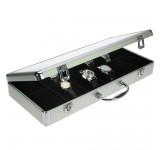 Aluminium Horlogekoffer 12 Zwart Breed