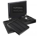 Beco Technic Castle 309299 Horlogekist Matzwart voor 12 Horloges