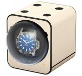 Beco Boxy Fancy Brick Leather Creme Watchwinder
