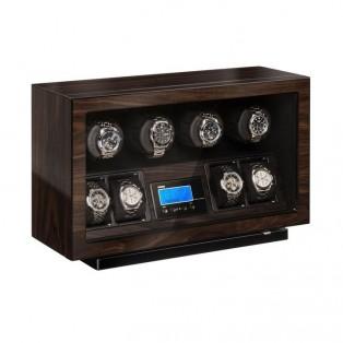 Beco BLDC Walnut Watchwinder voor 4 plus 4 horloges