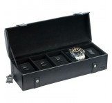 Horlogebox Beco Brandon Leder voor 5 XL horloges