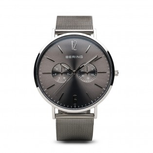 Bering 14240-308 Polished Grey Mesh 40mm Horloge