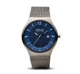 Bering 14440-007 Brushed Grey Solar Horloge