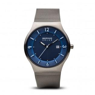 Bering 14440-007 Brushed Grey Solar Horloge