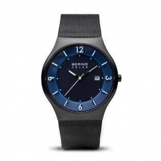 Bering 14440-227 Black Blue Solar Horloge