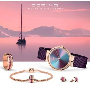 Bering 10X31 Ann3 Watch Jewelry Set Purple Lights