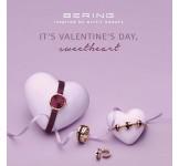 Bering Valentijns Watch Jewelry Set 2021 Paars Rosegoud