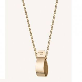 Rosefield The Lois Folded Charm Necklace Gold