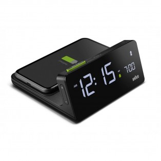 Braun BC21 Digital Wireless Charging Wekker