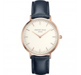 Rosefield the Bowery 38mm White Blue Rosegold BWBUR-B14