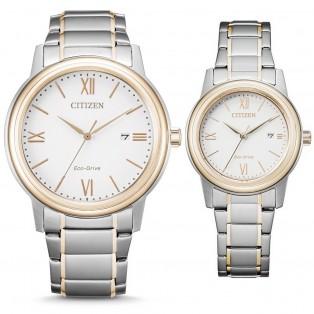 Citizen AW1676-86A en FE1226-82A Horloges Set Dames Heren