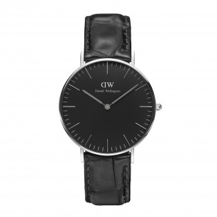 Daniel Wellington Classic Black 36mm Reading Silver