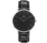 Daniel Wellington Classic Black 40mm Reading Silver