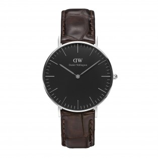 Daniel Wellington Classic Black 36mm York Silver