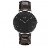Daniel Wellington Classic Black 40mm York Silver
