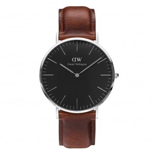 Daniel Wellington Classic Black 40mm St Mawes Silver